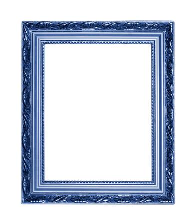 marco madera: Foto marco azul