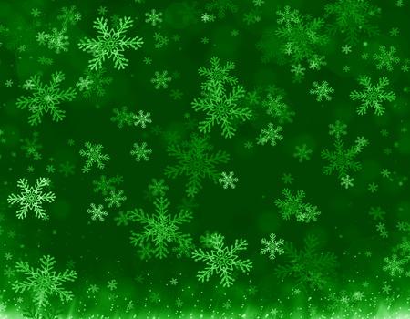 Christmas season isolated on green background Stock Photo