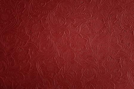 Motif floral rouge Banque d'images - 33804958
