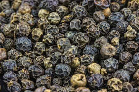 black peppercorn: Black peppercorn macro Stock Photo