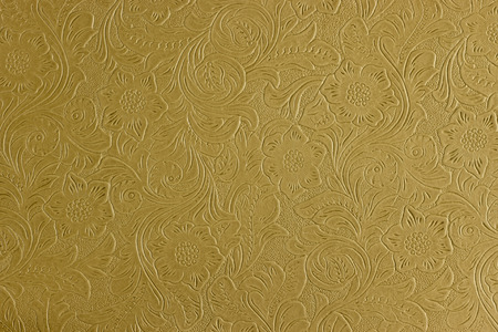 tooled leather: floral pattern Stock Photo