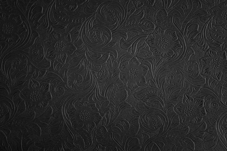 black floral pattern Stock Photo