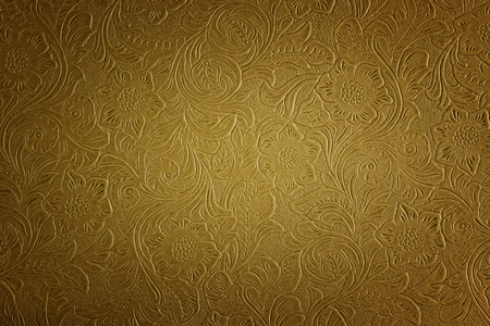 tooled: floral pattern Stock Photo