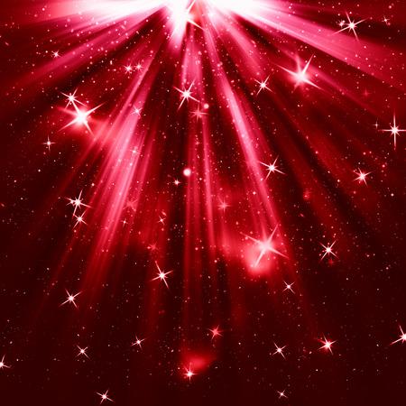 seasonal greetings: Red christmas background
