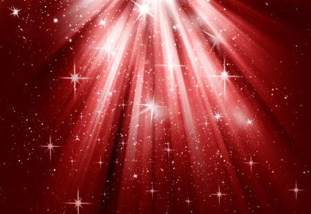 christmas deco: Christmas season isolated on red background