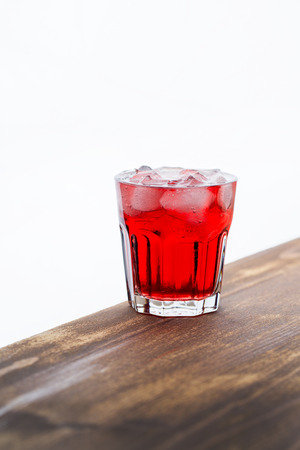 exotically: red drink with ice