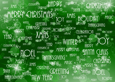 worn paper: christmas background green