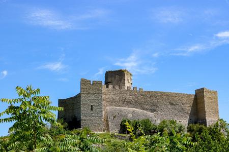 Cassino, Italy - May 20, 2018: view of Rocca Janula, Italy.