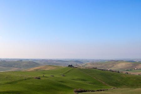 View with green hills Archivio Fotografico - 120424831