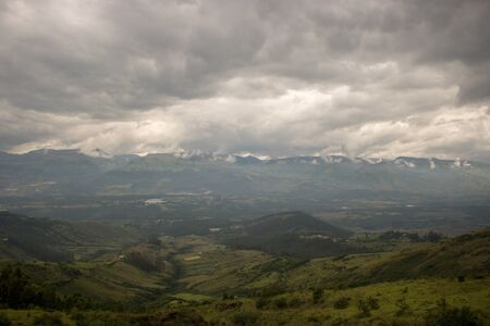 Amazing landscape in Ecuador with mountains and clouds