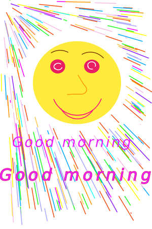 The smiling yellow sunshine greets you in the morning