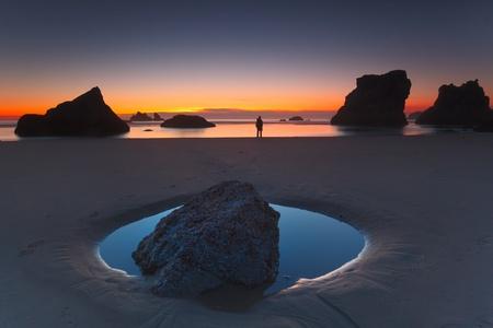 Sunset - Bandon beach photo