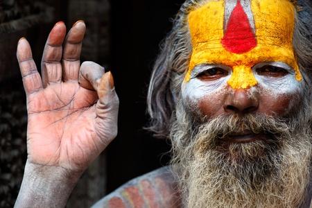 kathmandu: Guru in the colorful streets of Kathmandu Editorial