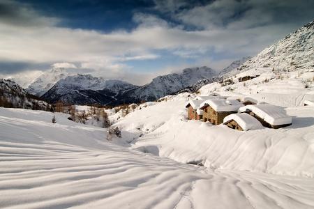 A scenic view of a winter landscape Stock Photo - 13564945