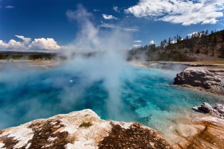 np: Stunning scene in Yellowstone NP Stock Photo