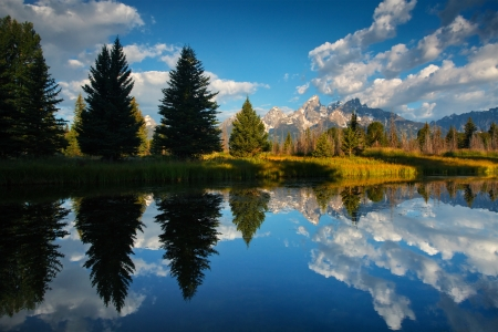 Reflection of the Teton photo