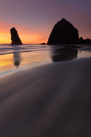 Cannon beach at sunset photo