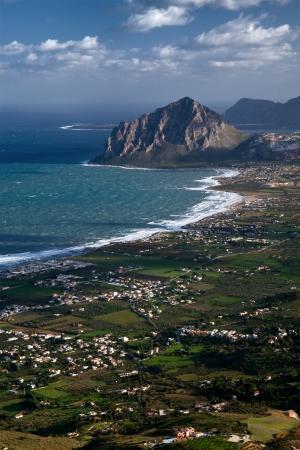 golfo: Aerial view of castellamare del golfo