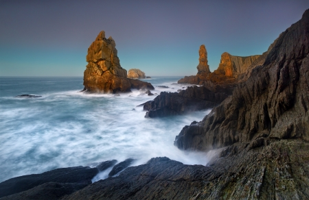 northern spain: the rocky coasts of northern Spain