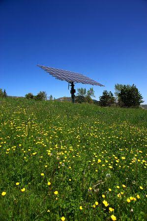 Morfasso (PC), Italia, paneles solares Foto de archivo - 5512391