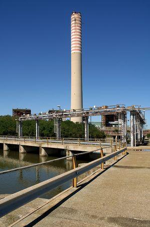 pila: Pila (Ro),Veneto,Italy,Po River Delta,the thermoelectric Central inoperative