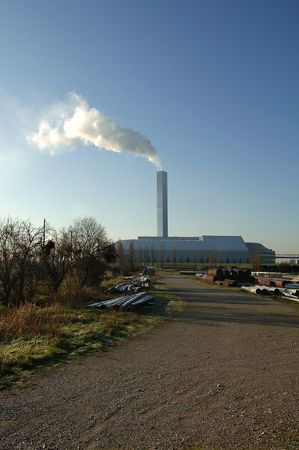 e waste: Brescia.Lombardy,Italy, the Central to the incineration of municipal waste e garbage