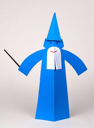 Un Macician Merlin hecha con papel, origami  Foto de archivo - 5542303