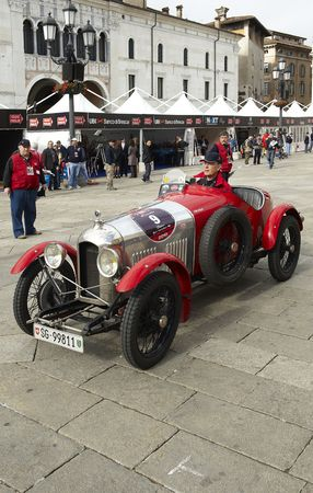 mille: BRESCIA,ITALY - MAY,6: a Amilcar CGSS of 1926 at the puncing of Mille Miglia,the famous race for historic cars,May 6,2010 in Brescia,Italy Editorial