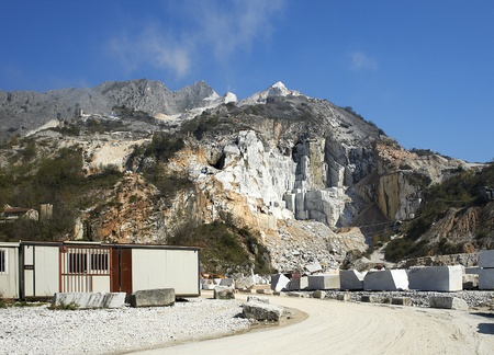 art processing: Colonata (Carrara), Italy,  the famous marble quarries Stock Photo