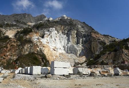 Colonata (Carrara), Italia, las famosas canteras de mármol Foto de archivo - 9274751