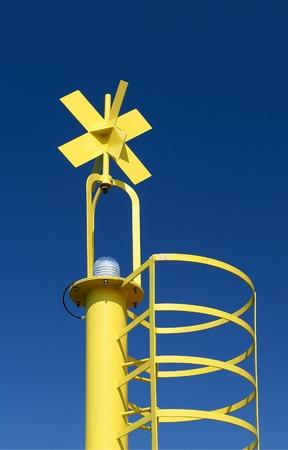 Marina di Pietrasanta (Lu),Tuscany, Italy,a light segnal on the floating dock Stock Photo - 9274662