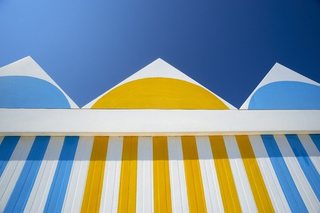 especiakky some cabins on a beach Stock Photo - 9635454