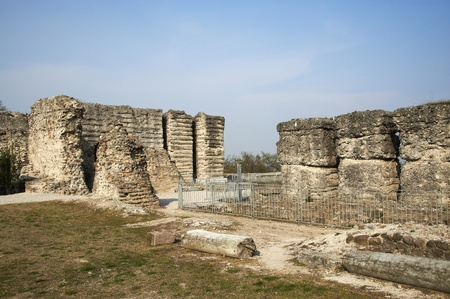 mn: Cavriana  Mn , Italy, the ruins of the forttress of Este,home of Isabella of Castile Stock Photo