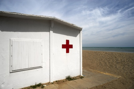 Cesenatico (Fc), Italy, the first Aid on the beach Stock Photo - 13528601