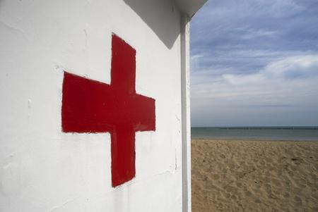 vacance: Cesenatico (Fc), Italia, il pronto soccorso sulla spiaggia