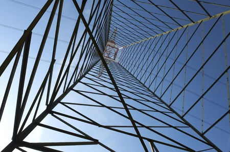 Stagno Lombardo (Cr),Italy,  an electricity pylon Imagens