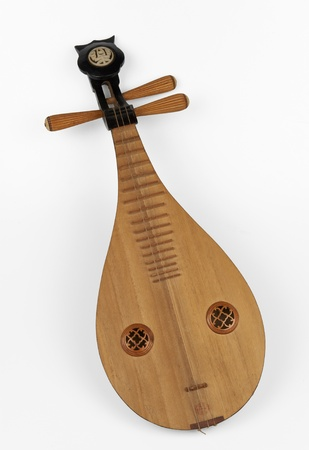 lute: a liuqin a three stringed, Chinese lute