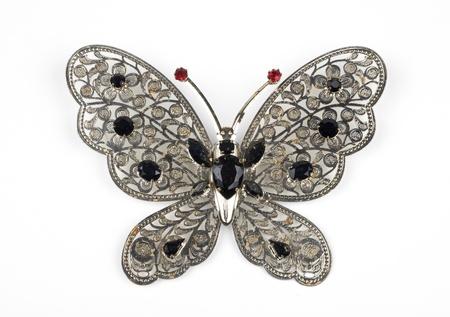 Un broche con forma de mariposa, jewerly Foto de archivo - 18293552