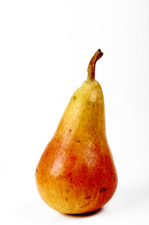 dietology: a pear  on white background