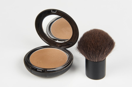a make up ground and a  brush  Archivio Fotografico