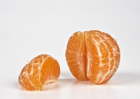 ailment: some tangerines on white background Stock Photo