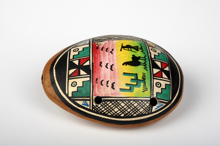 faience: an ocarina decorated coming from Costa Rica