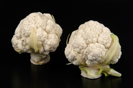 ailment: two little cabbages on blsck background