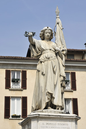 risorgimento: Brescia, Italy, the monument dedicated to the people of Brescia rebelled against the Austrians,during the wars of independence of the Risorgimento,during the  10 Days of Brescia
