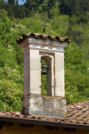 little bell: Provaglio dIseo (Bs), Italy, a little bell tower of a little church Stock Photo
