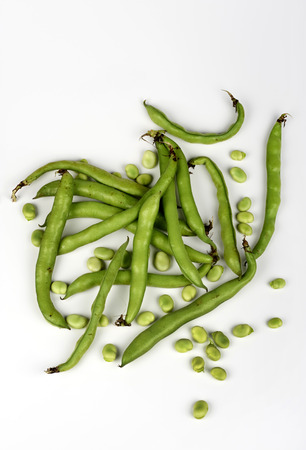 ailment: some organic beans on white background Stock Photo