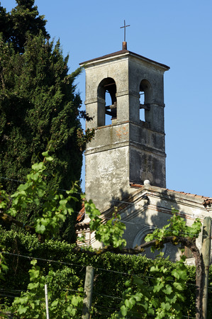 devotions: Calino BsFranciacorta in Italy bell tower of the church of St. Stephen