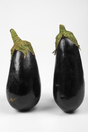 ailment: some eggplants  on white background