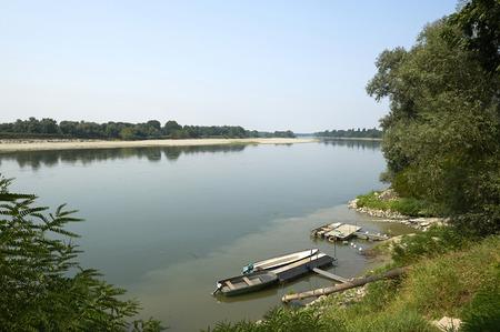 fisher animal: Stagno Lombardo (Cr), Italy, the Po river