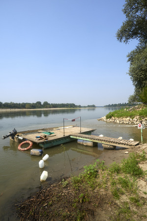 fisher animal: Stagno Lombardo (Cr), iItaly, the Po river